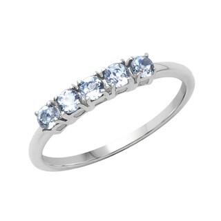 Sterling Silver 2/5ct TGW Aquamarine Ring