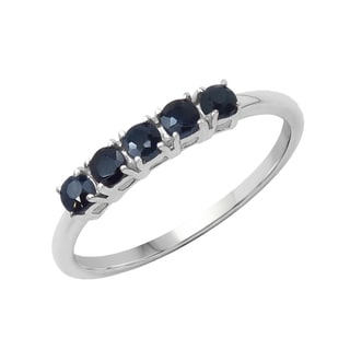 Sterling Silver 1/2ct TGW Blue Sapphire Ring