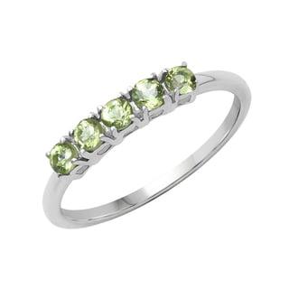 Sterling Silver 2/5ct TGW Peridot Ring