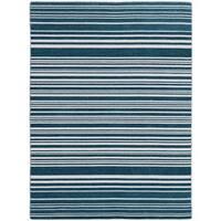 Bonny Doon Blue Striped Flat Weave Rug - 5' x 8'