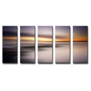 Ready2HangArt 'Blur Stripes XIX' 5-PC Canvas Wall Art