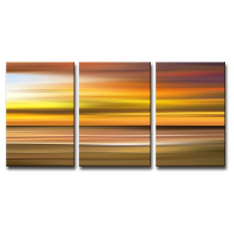 Ready2HangArt 'Blur Stripes X' 3-PC Canvas Wall Art Set