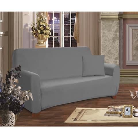 Elegant Comfort Jersey Stretch Furniture Slipcover Sofa