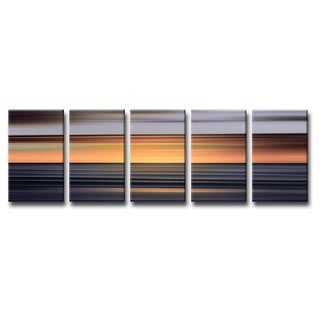 Ready2HangArt 'Blur Stripes XI' 5-PC Canvas Wall Art Set
