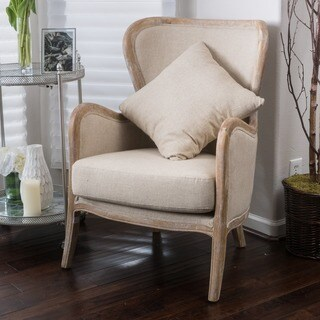 Crenshaw Fabric Wing Chair by Christopher Knight Home