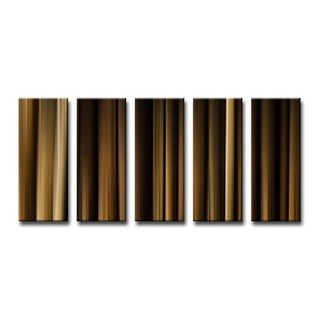 Ready2HangArt 'Blur Stripes VII' 5-PC Canvas Wall Art Set