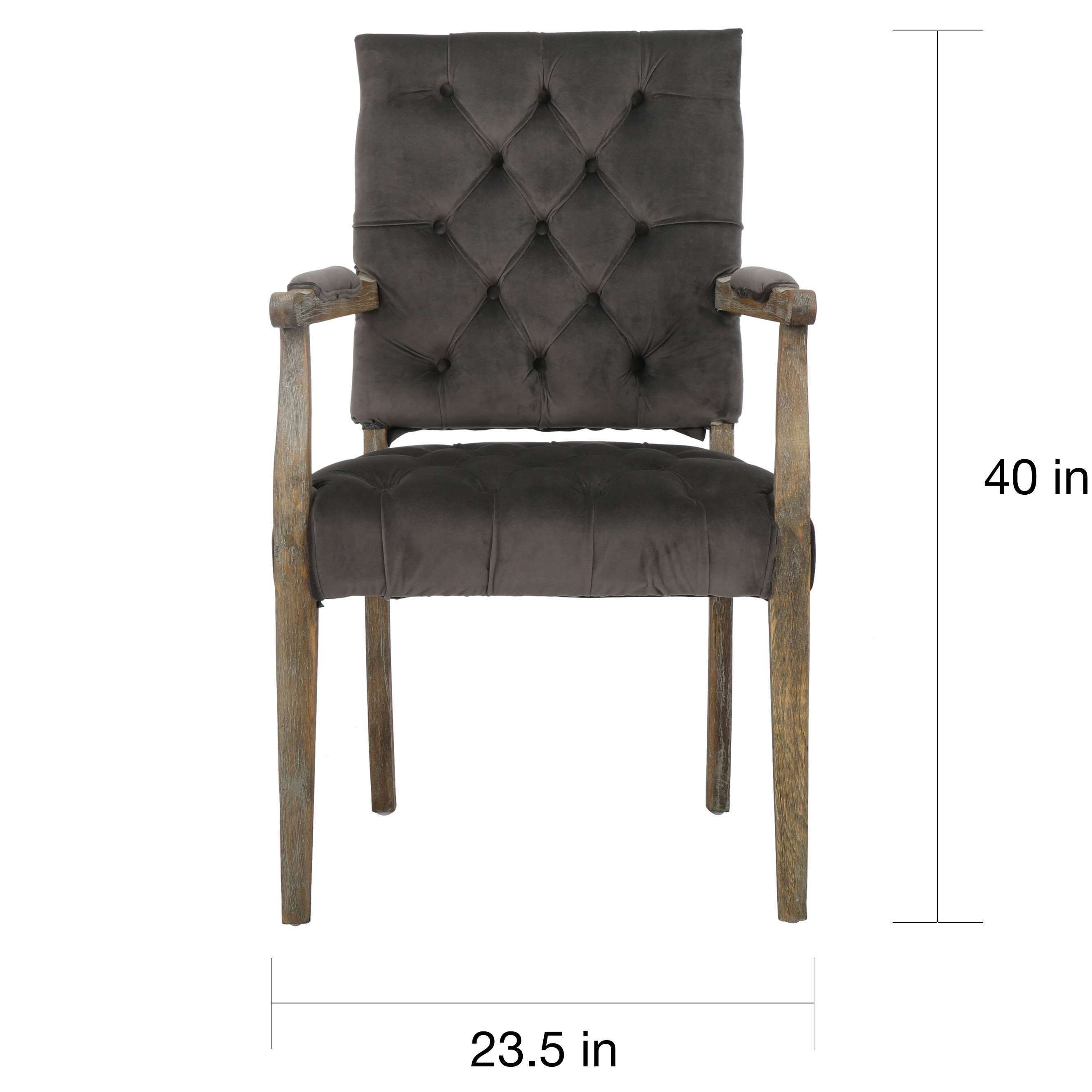 Saltillo Velvet Arm Dining Chair By Christopher Knight Home 40 H X 23 5 W X 22 2 D Overstock 10978484 Charcoal