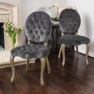 Marianne Velvet Dining Chair (Set of 2) by Christopher Knight Home