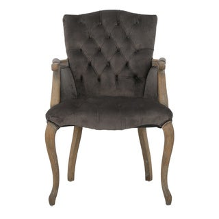 Moira Velvet Arm Dining Chair by Christopher Knight Home