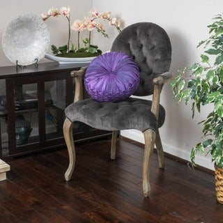 Christopher Knight Home Marianne Velvet Arm Dining Chair
