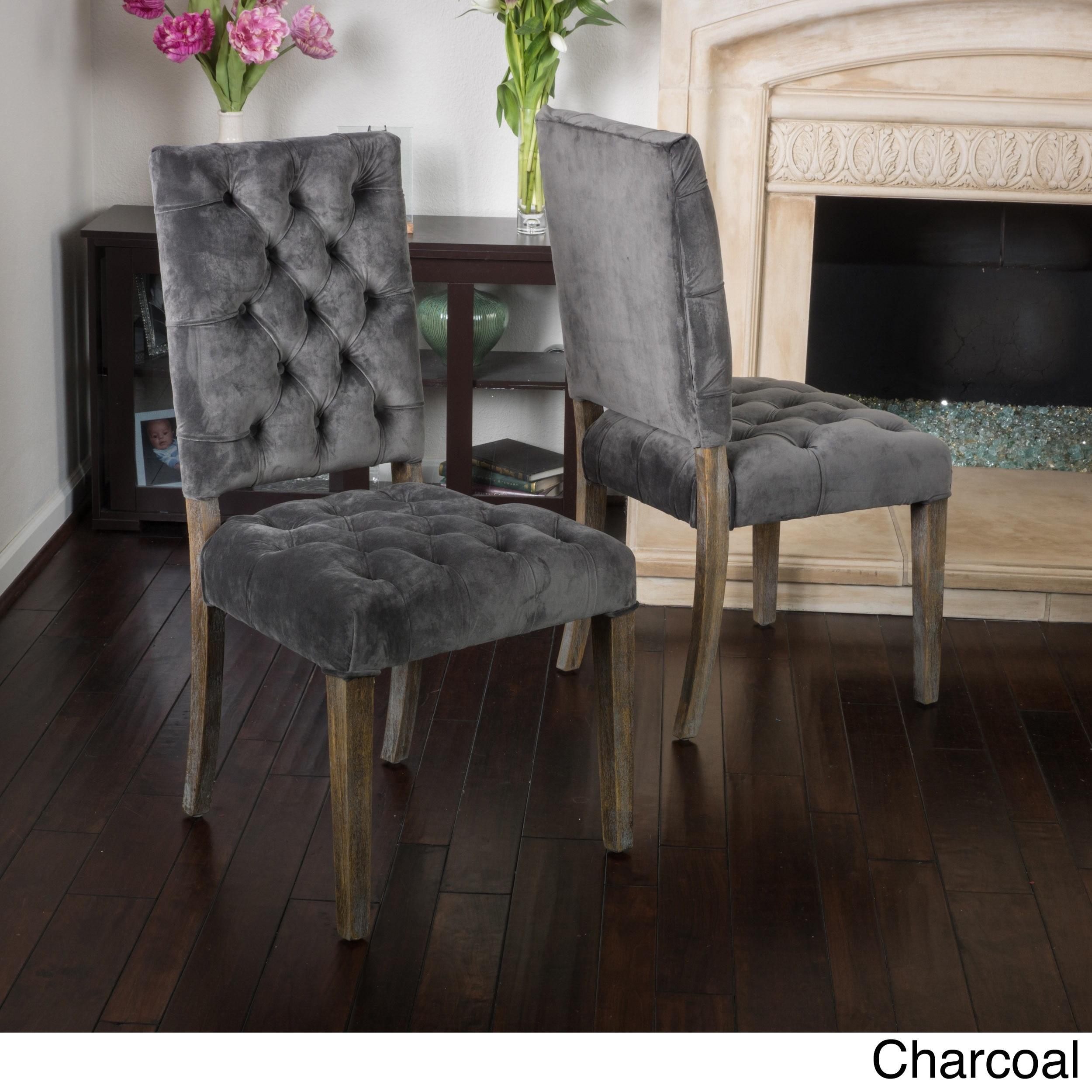 Saltillo Velvet Dining Chair Set Of 2 By
