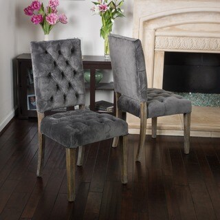 Saltillo Velvet Dining Chair (Set of 2) by Christopher Knight Home (Option: Black)