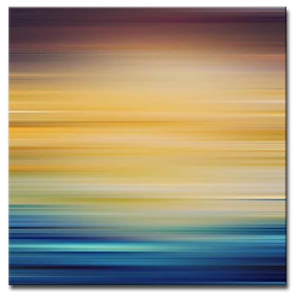 Ready2hangart Blur Stripes V Canvas Wall Art 18001161