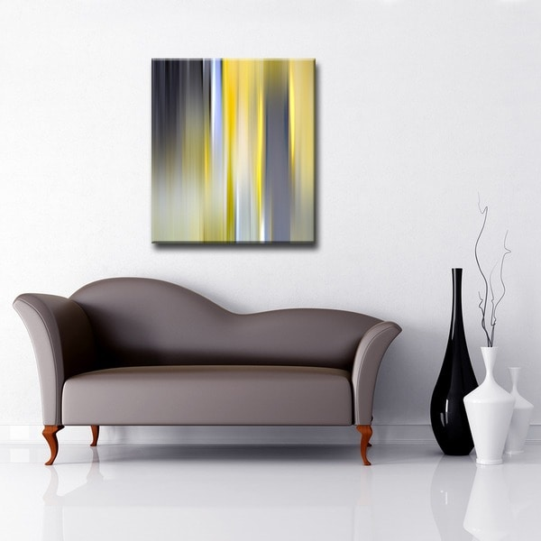Blur Stripes VI' Abstract Wrapped Canvas Wall Art