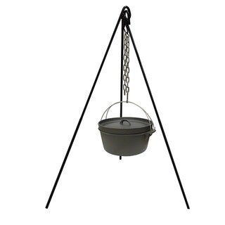 Stansport Cast Iron Cooking Tripod with S Hook
