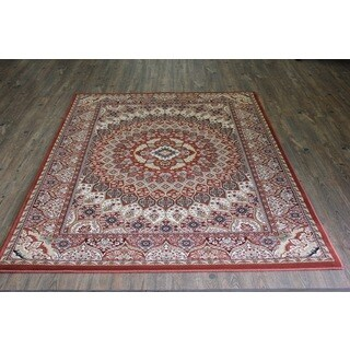 Rust Isfahan Persian Area Rug (5'3 x 7'5)