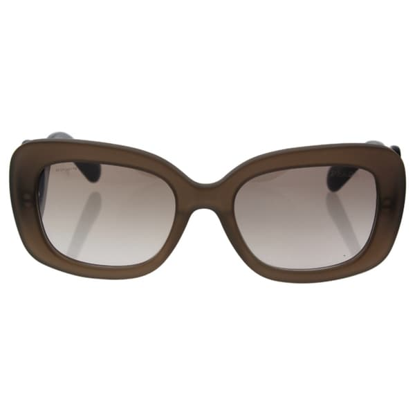 f4488bdc90faf Prada Womens PR 27OS UBU4O0 Matte Brown Transparent Rectangle Minimal-Baroque  Sunglasses
