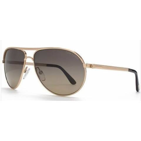 3db300e687e74 Tom Ford Men s TF 144 Marko 28D Shiny Rose Gold Metal Aviator Polarized  Sunglaases