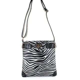 LANY 'Zebra' Print 11-Inch Cross- Body Messenger Bag