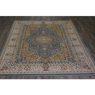 Blue Isfahan Persian Area Rug (5'3 x 7'5)