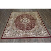 Burgundy Isfahan Persian Area Rug - 5'3 x 7'5