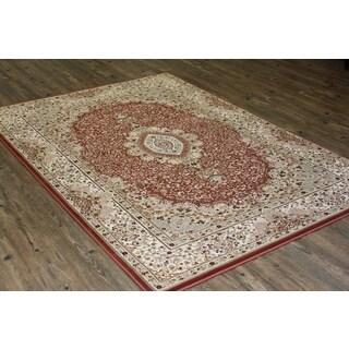 Rust Isfahan Persian Area Rug (5'3 x 7'5)