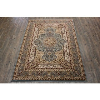 Blue Tabriz Persian Area Rug (5'3 x 7'5)