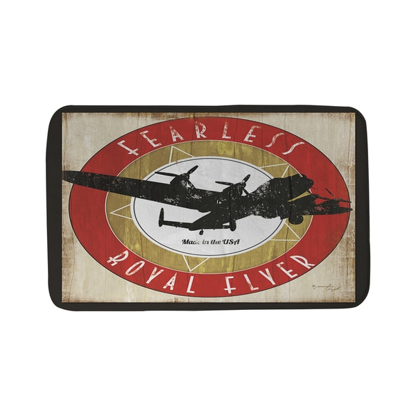 Vintage Airplane Bath Mat