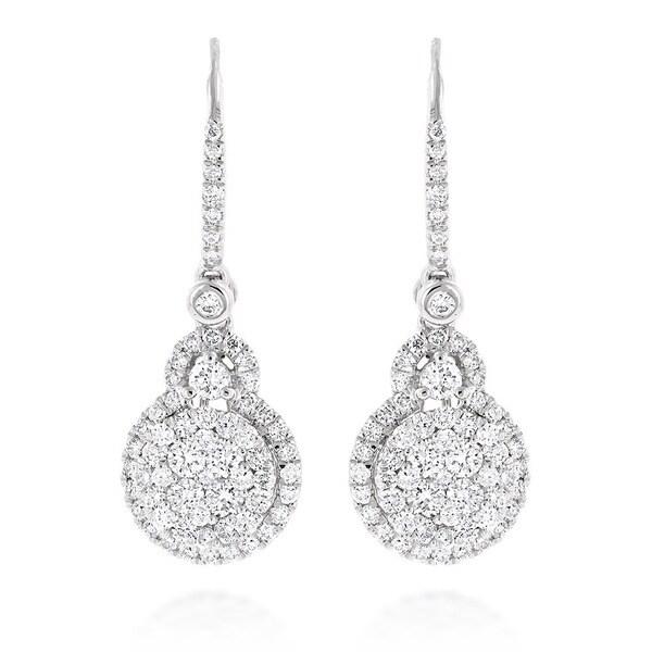 Luxurman 14k White Or Yellow Gold 2 1 4ct Tdw High End Cer Diamond Drop