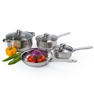 Alpine Cuisine Stainless Steel Cookware 7-piece Set