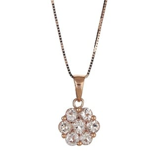 Anika and August 10k Rose Gold Round-cut Morganite Pendant