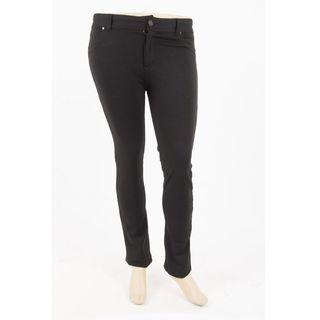Soho Plus Size Black One Size Flexible Women Ponte Pants