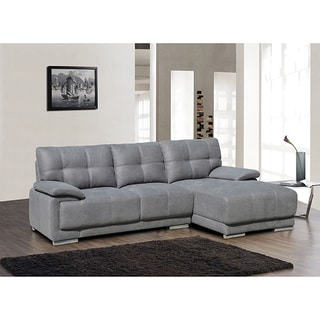 Jacob Embossing Fabric Contemporary Sectional Sofa Set