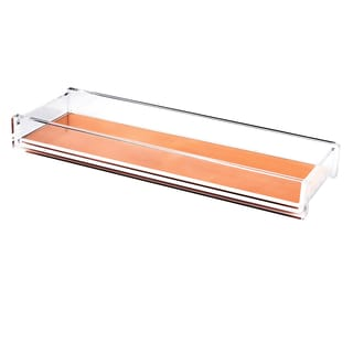 Zodaca Clear/ Rose Gold Deluxe Design Acrylic Pencil/ Pen Tray