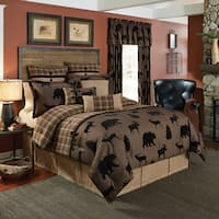 Croscill Summit Chenille Jacquard woven Lodge 4-piece  Comforter Set