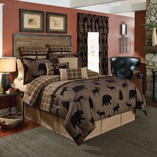 Croscill Summit Chenille Jacquard woven Lodge 4-piece Comforter Set