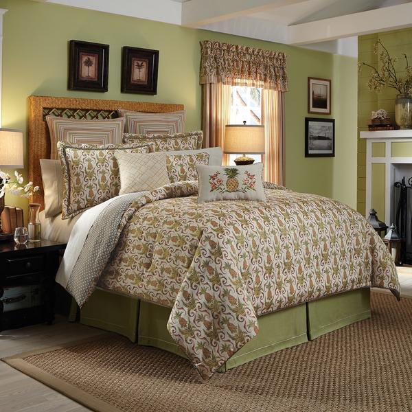 Croscill Pina Colada Jacquard Woven Tropical 4-piece Comforter Set