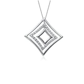 Collette Z Sterling Silver Diamond Shapes Modern Pendant