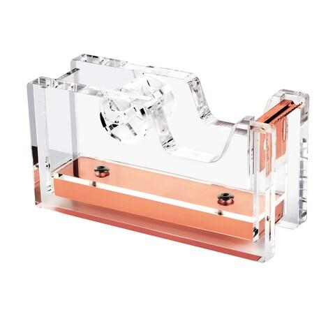 Insten Clear/ Rose Gold Deluxe Design Acrylic Desktop Tape Dispenser (1-inch Core)
