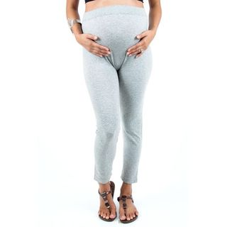 Soho Grey Fit Cotton Maternity Leggings