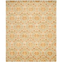 Safavieh Hand-knotted Santa Fe Ogee Teal/ Gold Wool Rug - 8' x 10'