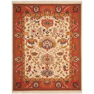 Safavieh Hand-woven Sumak Ivory/ Rust Wool Rug (8' x 10')