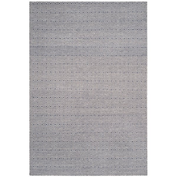 Safavieh Hand-woven Oasis Dark Grey/ Ivory Wool Rug - 9' x 12'