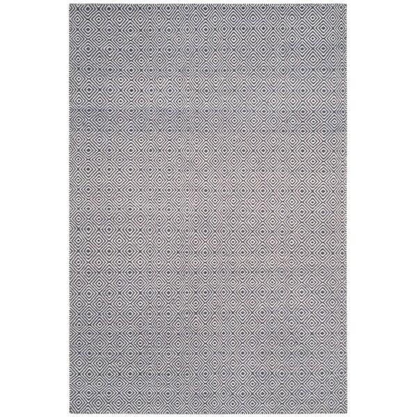 Safavieh Hand-woven Oasis Dark Grey/ Ivory Wool Rug - 8' x 10'