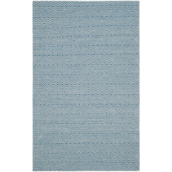 Safavieh Hand-woven Oasis Blue/ Ivory Wool Rug - 8' x 10'
