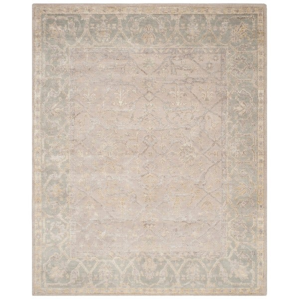 Safavieh Hand-knotted Maharaja Putty/ Grey Wool Rug - 8' x 10'