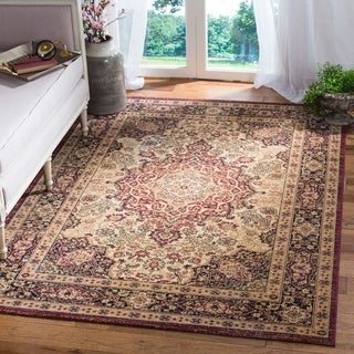 Safavieh Lavar Kerman Cream/ Navy Cotton Rug (10' x 14')