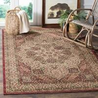 Safavieh Lavar Kerman Cream/ Red Cotton Rug - 9' x 12'