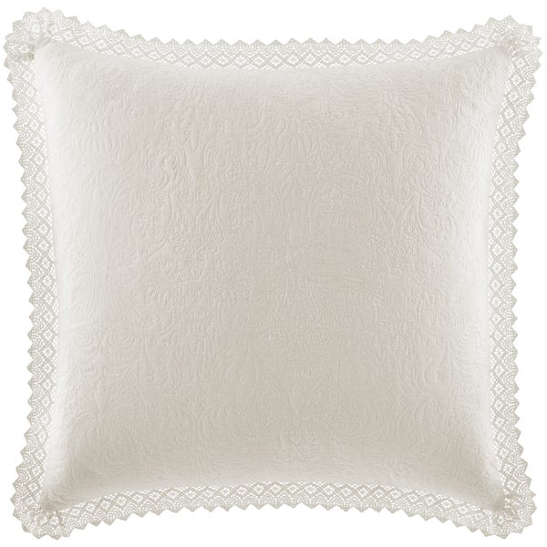 Laura Ashley Cotton Ivory Crochet European Sham