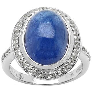 Olivia Leone Sterling Silver 9ct TGW Tanzanite and White Topaz Ring